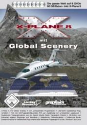 X-Plane 8 mit Global Scenery, (DVD)